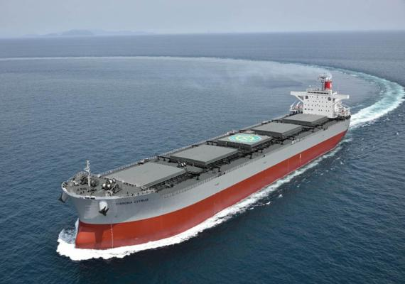 K Line celebrates latest Corona series coal carrier