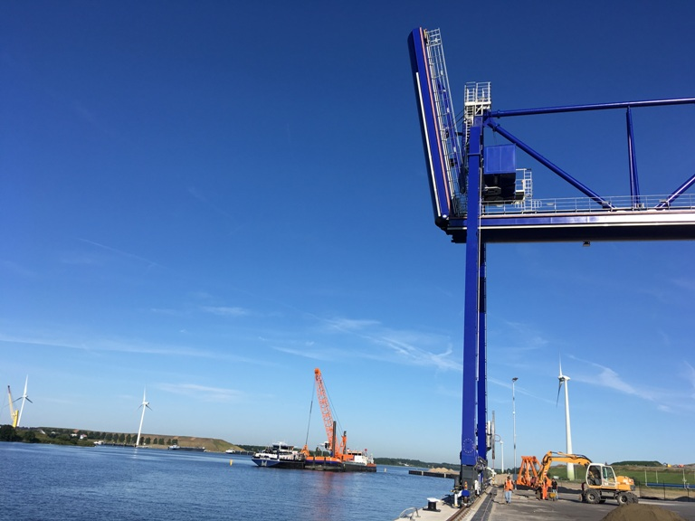 The new crane will go into operation this month