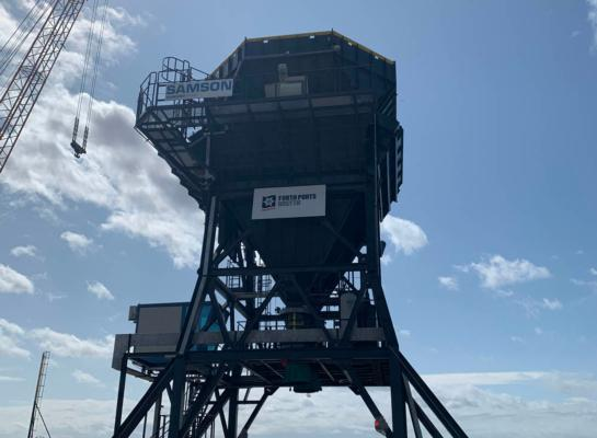 UK's first Samson Eco Hopper arrives in Rosyth