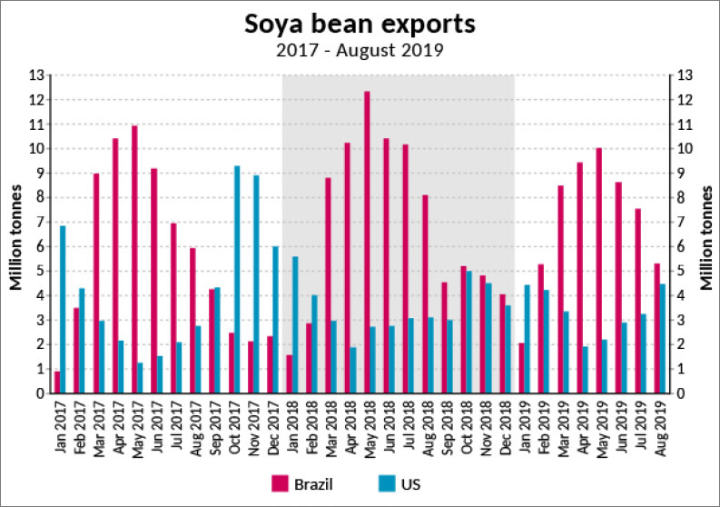 Shipping feels even more pain from soya trades