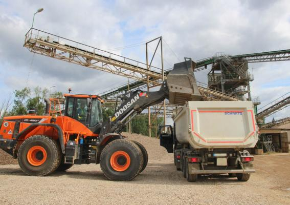 Doosan wheel loaders for German sand and gravel operation