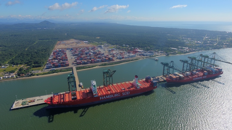 Porto Itapoá now has six STS cranes on 800m of quay