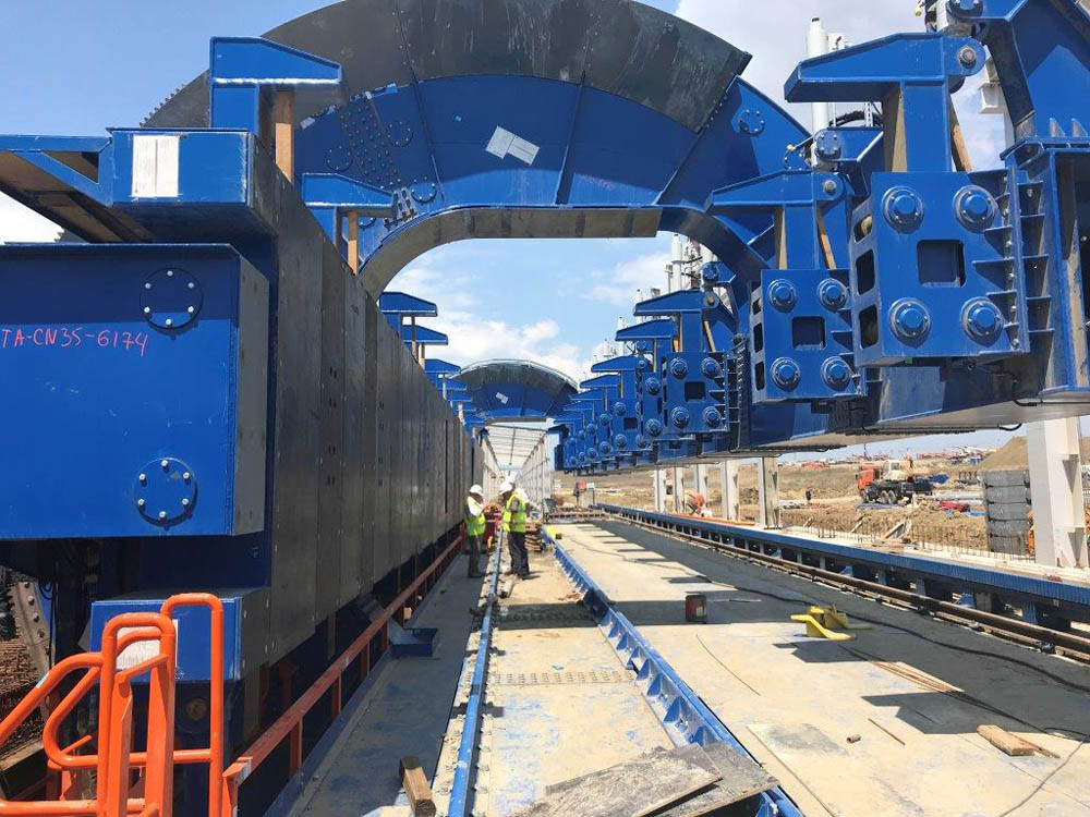 Triple wagon unloading lines begin operating at Taman seaport