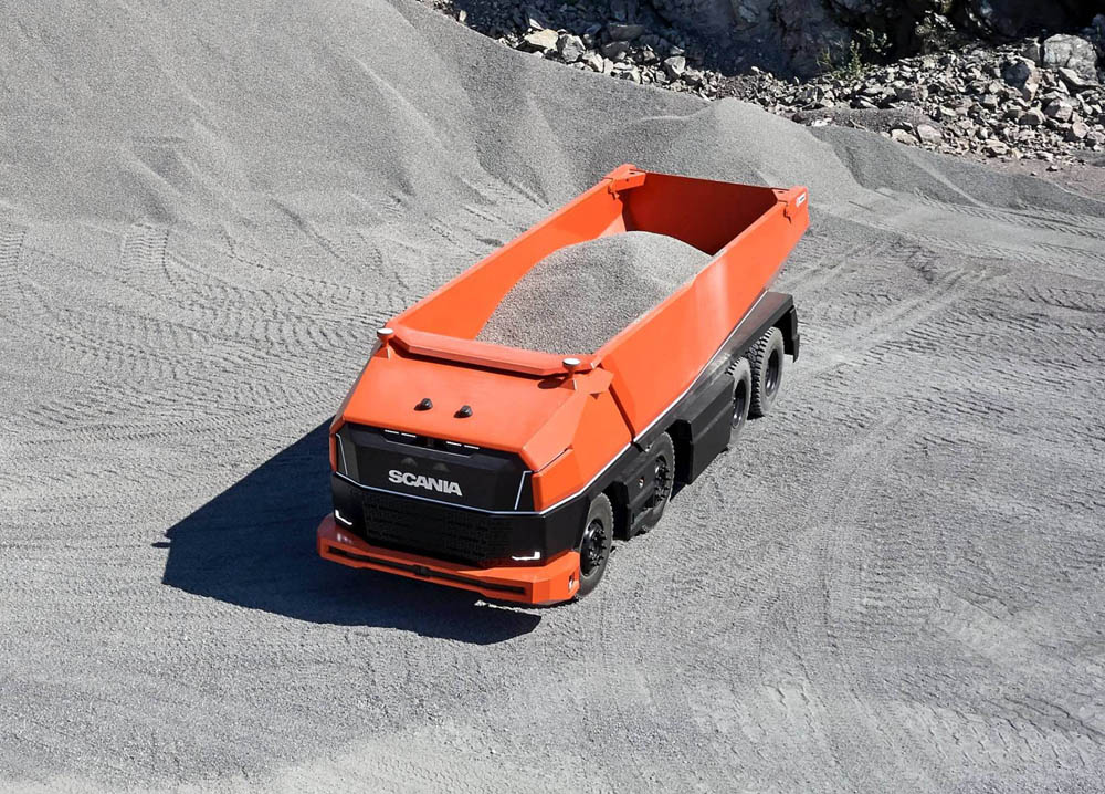 New Scania truck has no cab