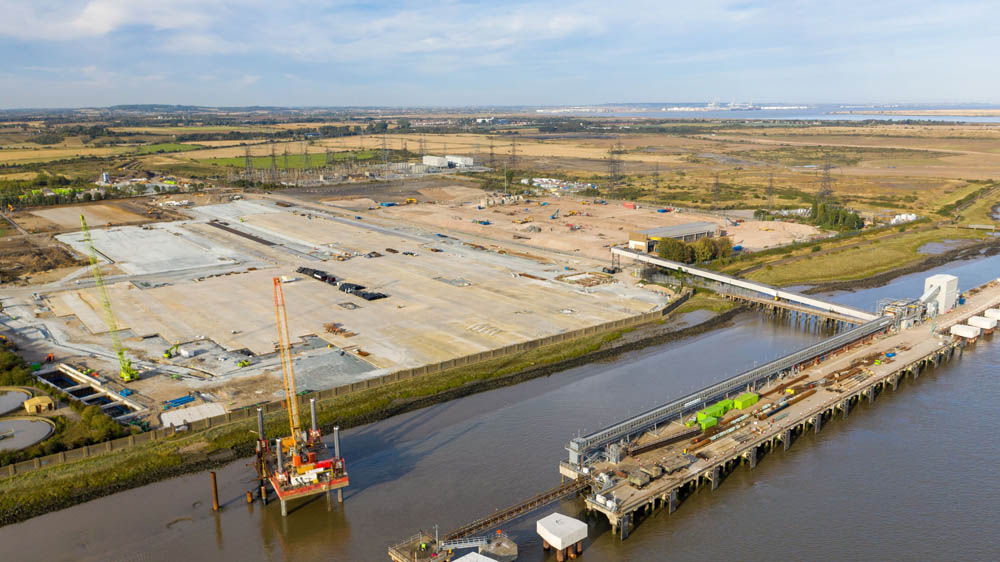 Building materials terminal for Tarmac at Tilbury2