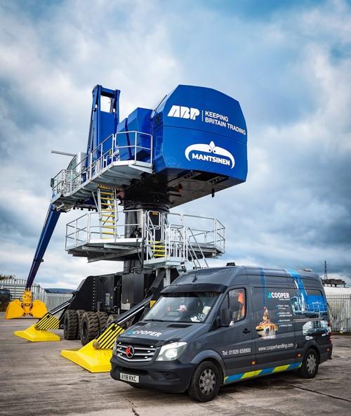 Mantsinen 120M Hybrilift for ABP Newport