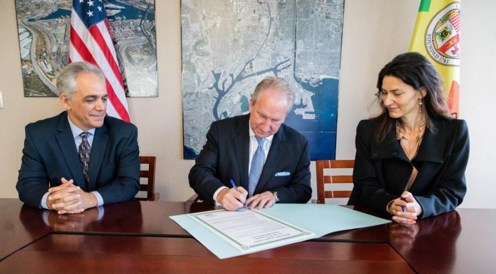 LA and Copenhagen Malmö ports collaborate.