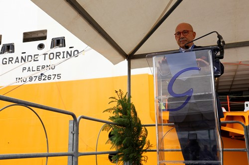 Grimaldi christens its new PCTC, GRANDE TORINO, in Civitavecchia