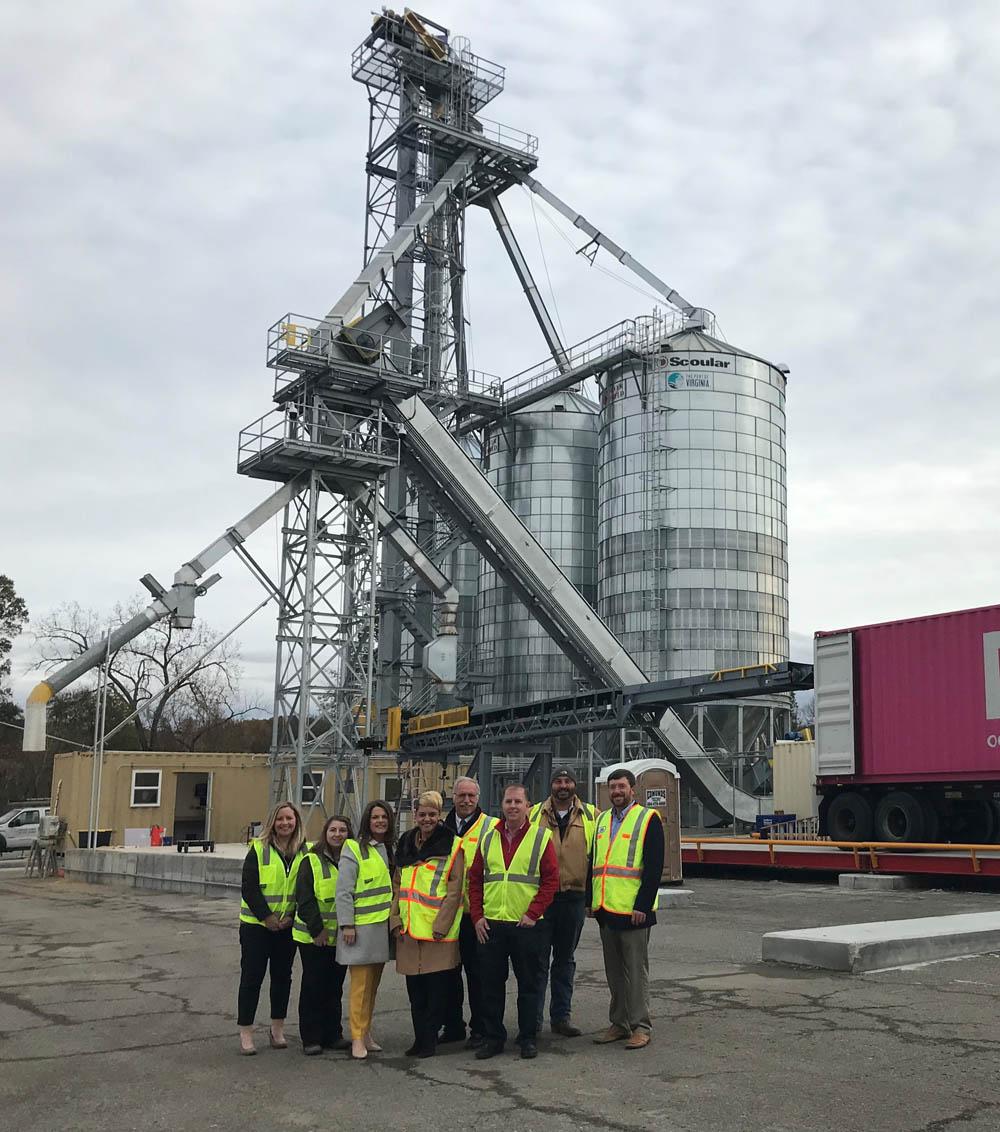 High-speed grain export operation for Virginia