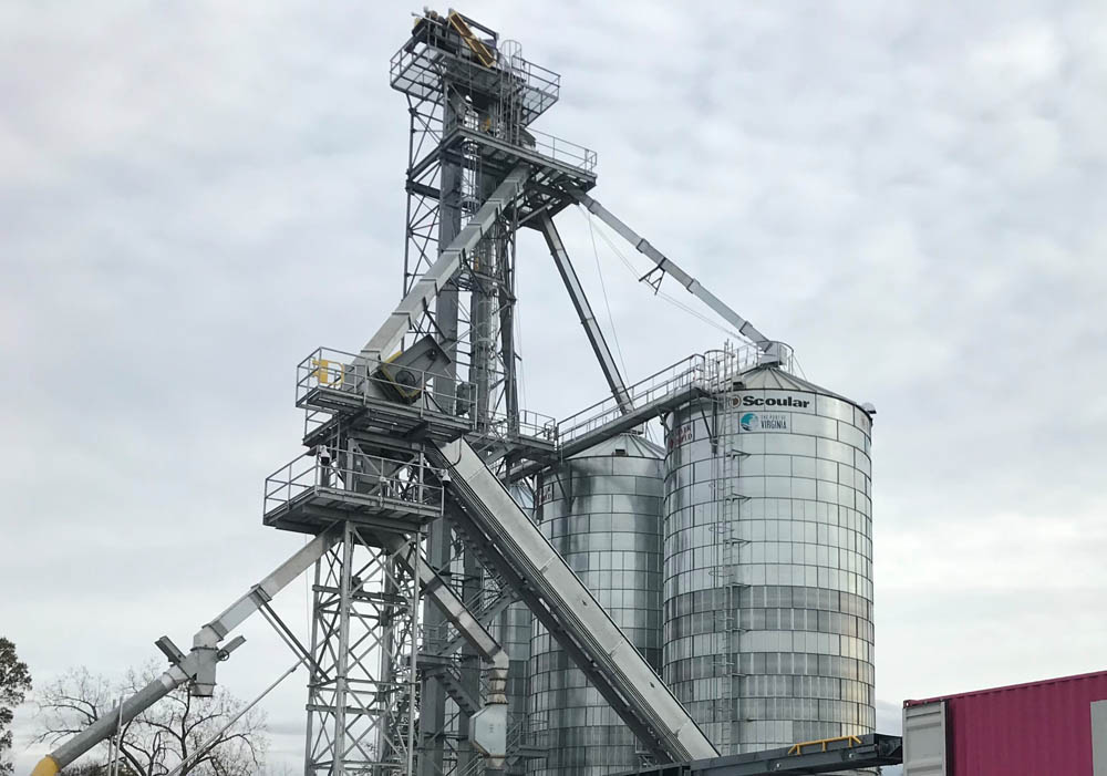 High-speed grain export operation for Virginia