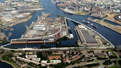 Hamburg to build apartments in working area of the port