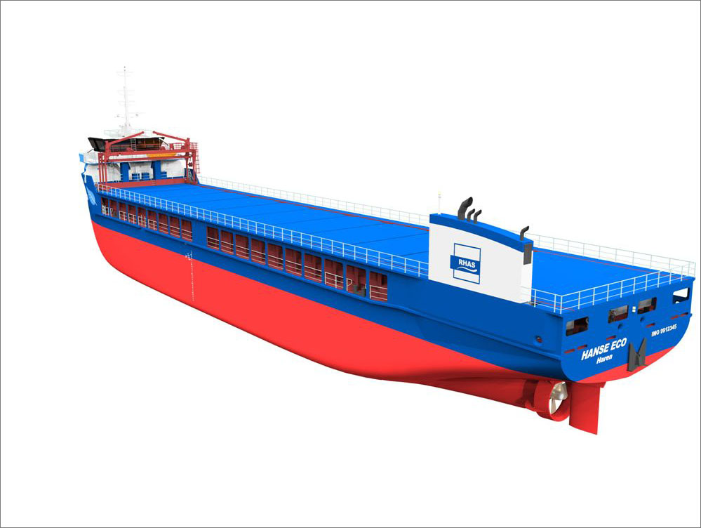 The cargo hold has capacity for more than 5,500 m3 of bulk, project or breakbulk cargo