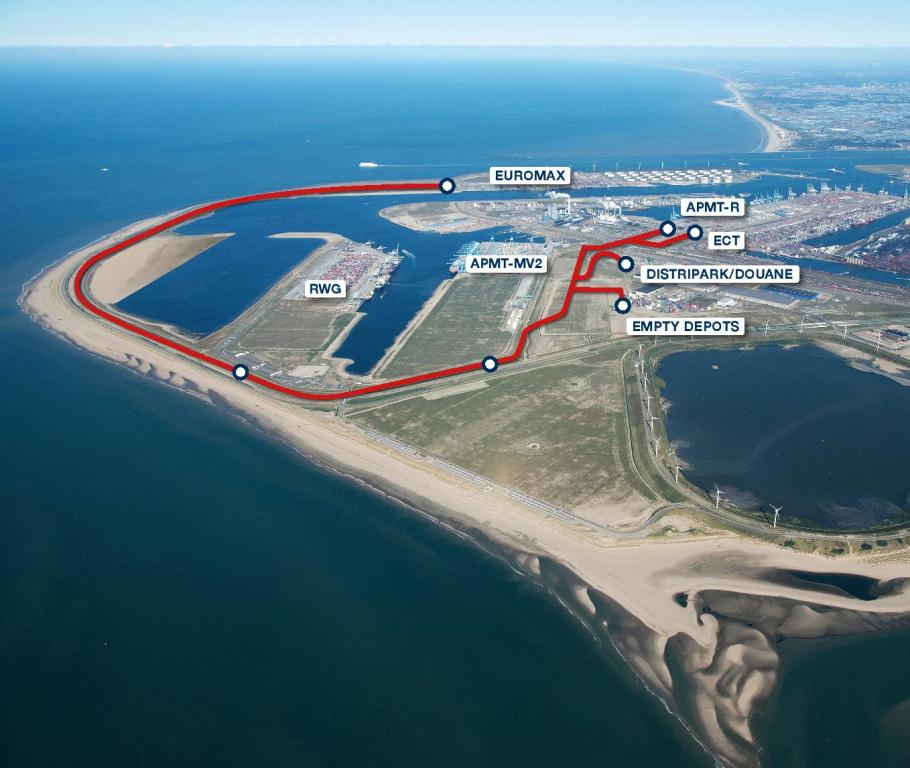 Latest graphic from Rotterdam Port authority showing the entire CER