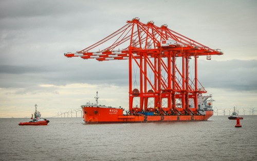 More STS cranes arrive for Liverpool2