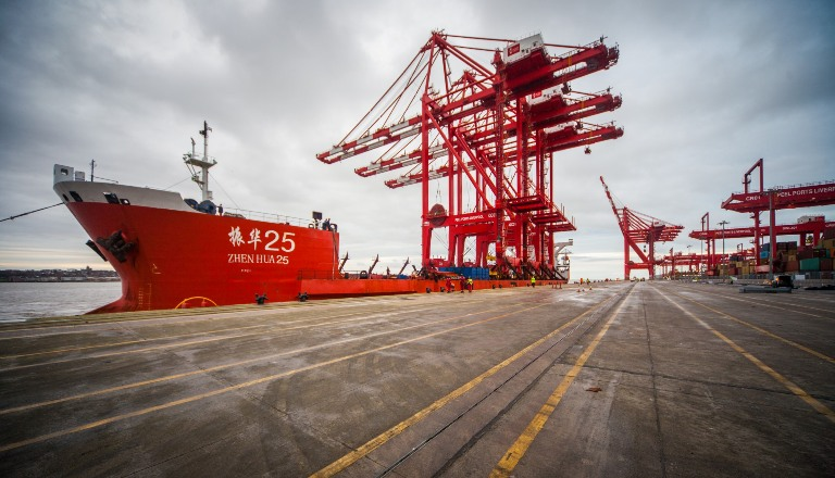 Peel Ports is investing more than £100M in STS cranes and CRMGs from ZPMC for Liverpool2