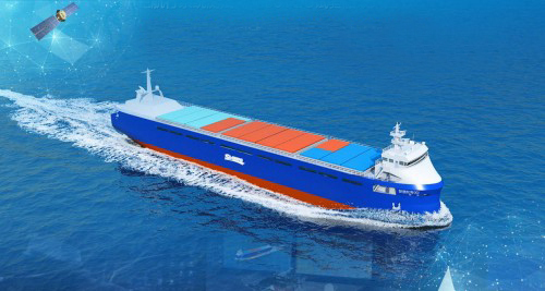 300 TEU autonomous vessel from Navigation Brilliance