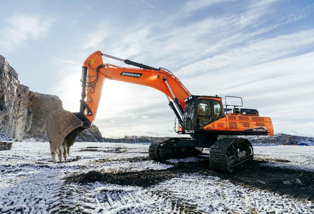 Doosan productivity play with new excavators