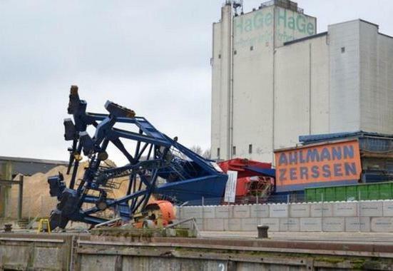 Crane collapse in Rendsburg