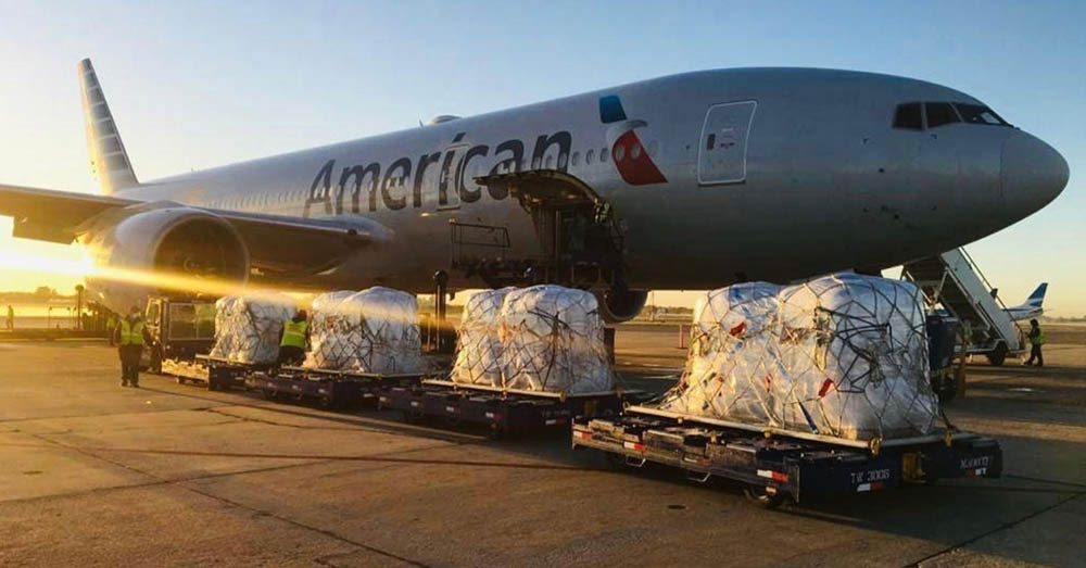 Airfreight supporting US farmers with seed stock