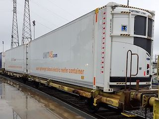 "Transfesa intermodal ""reefer express"" from Spain to the UK"