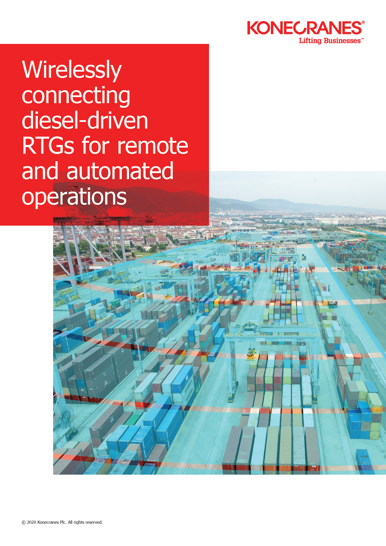 Wirelessly connecting diesel-driven RTGs for remote and automated operations