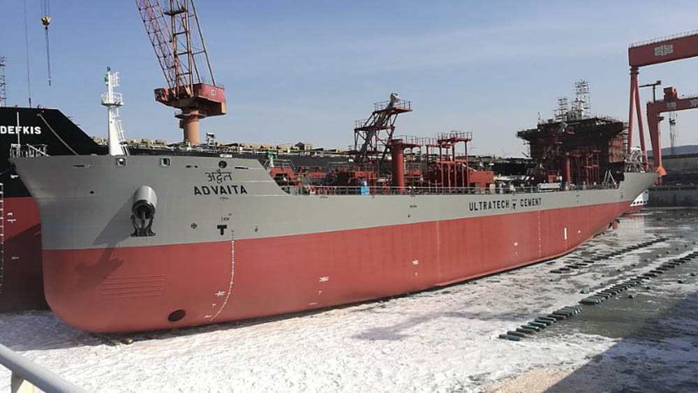Cement carrier launched despite COVID-19 worries