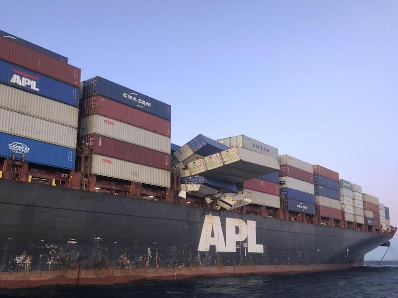 Ship's Master in court over containers overboard