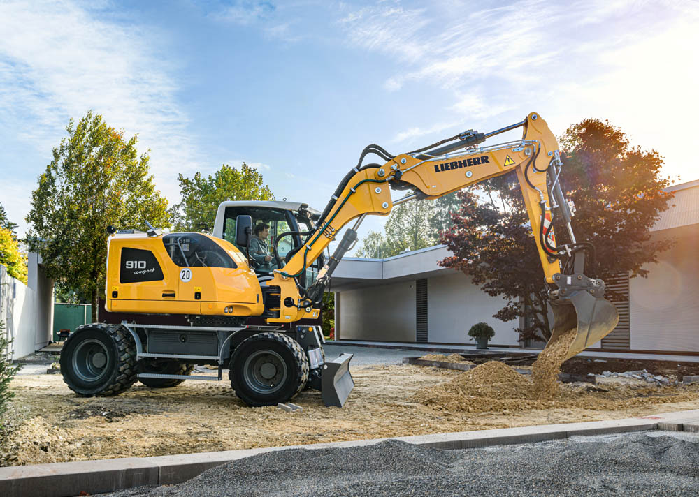 New Stage V compact wheeled excavators