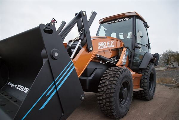 First fully electric backhoe loader from CASE