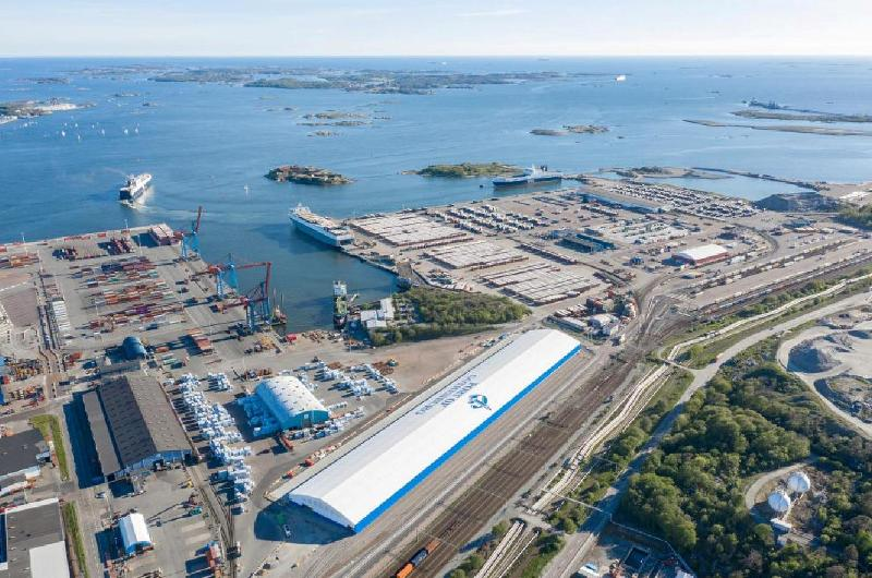 New forestry terminal in Sweden