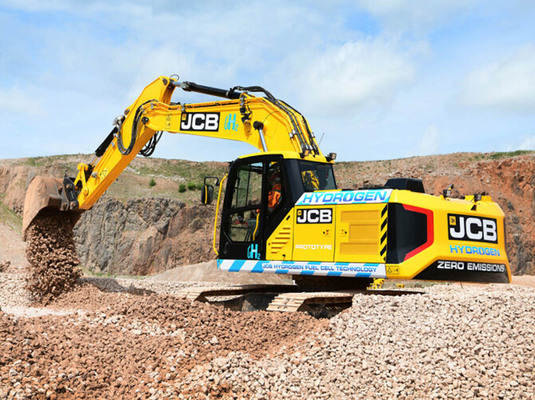 JCB unveils world's first hydrogen excavator