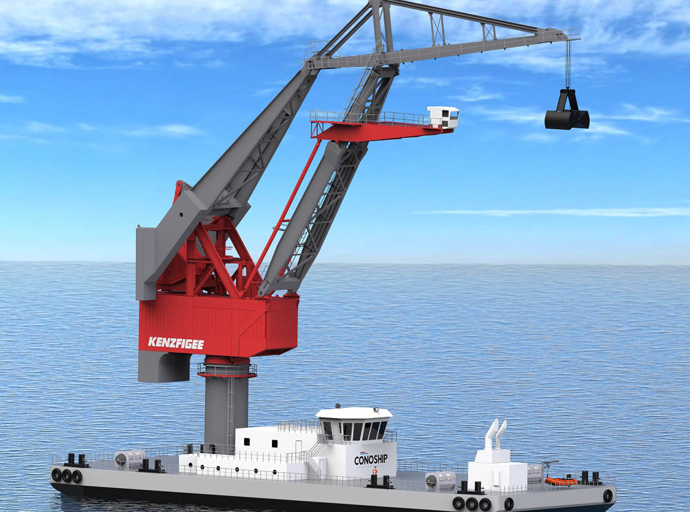 New cargo handling floating crane designs