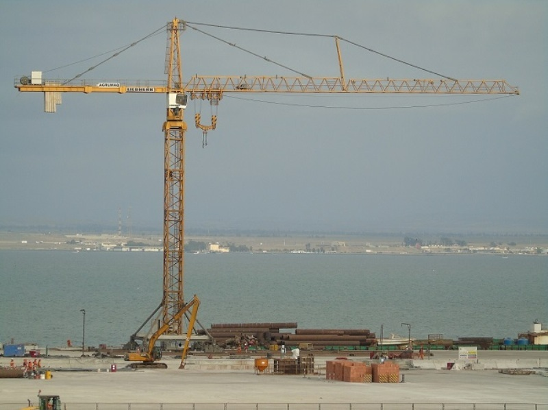 Tower crane for Peruvian port