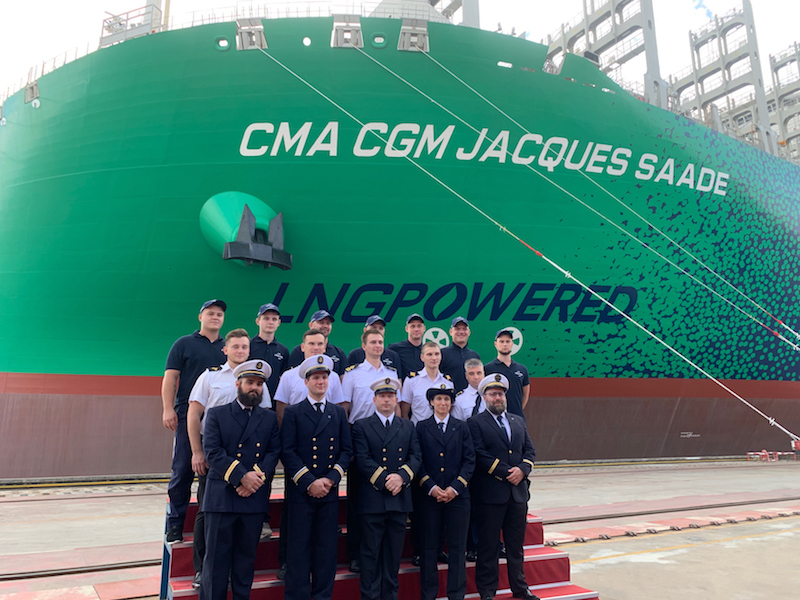 23,000 TEU LNG vessel joins the fleet
