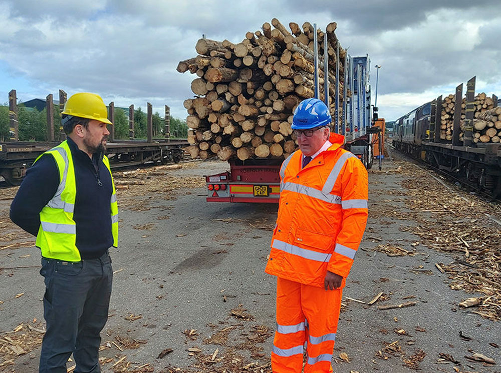Lumber by rail in Scotland