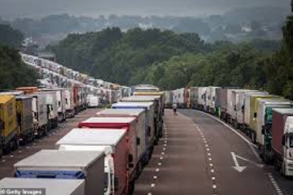 Instead of the M20 motorway, the truck will be the site of Manston Airport