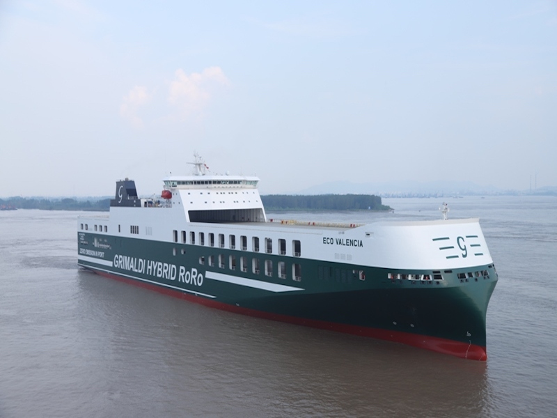 """Grimaldi takes delivery of first """"Eco"""" ro-ro"""