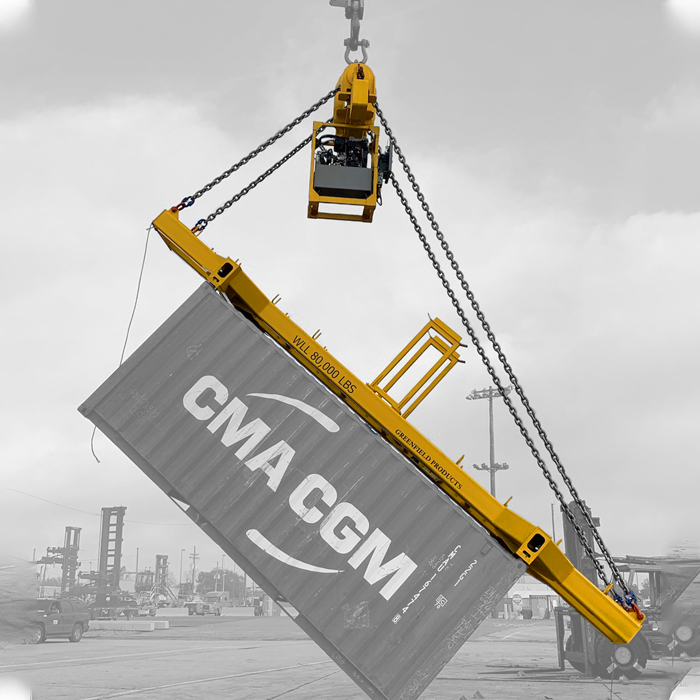 New container-dumping spreader launched