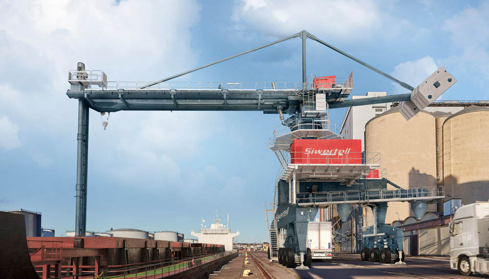 Port-mobile unloader expands operational range