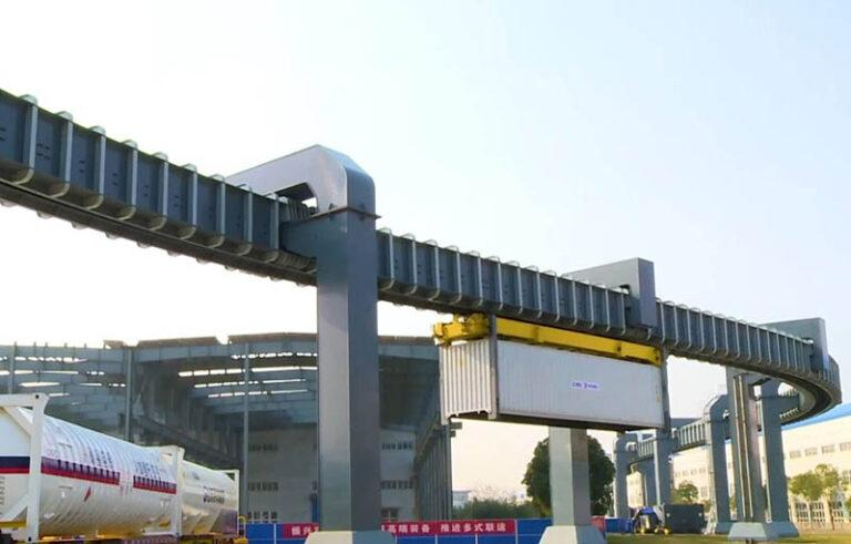 "Overhead rail (""Sky-Rail"") for Port of Qingdao"