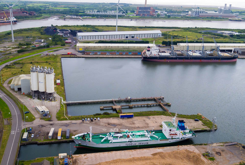 The CEMEX site at the Port of Newport
