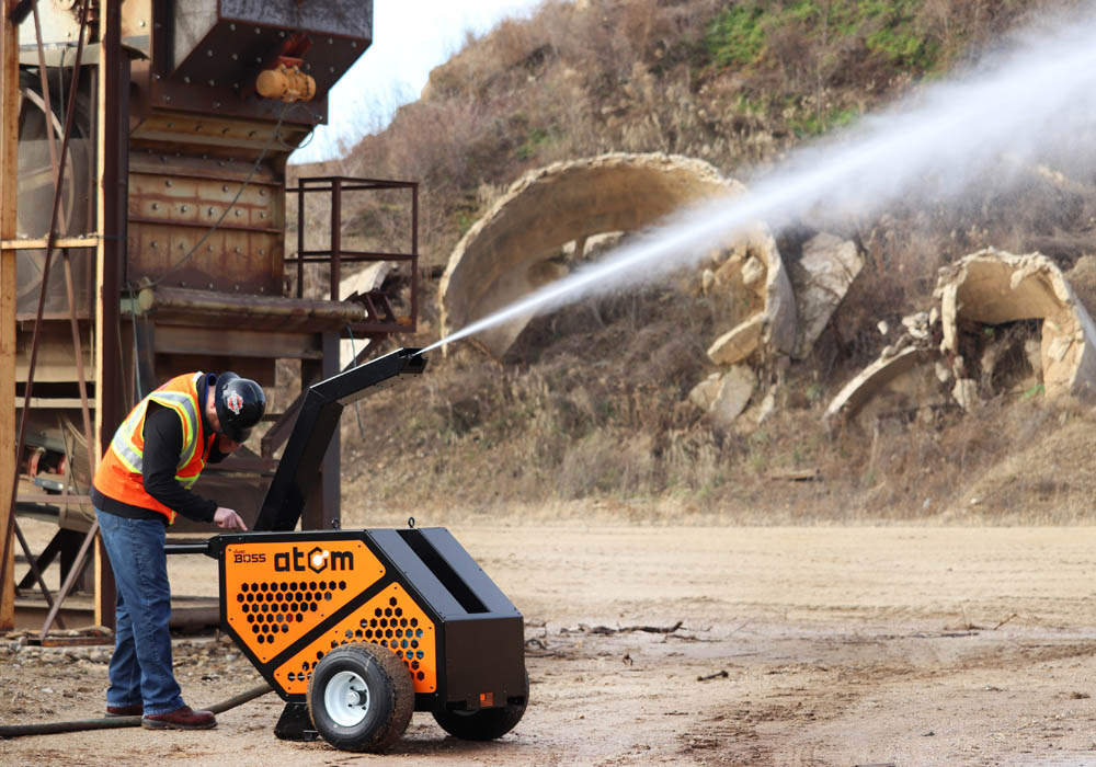 Compact dust suppression system launched