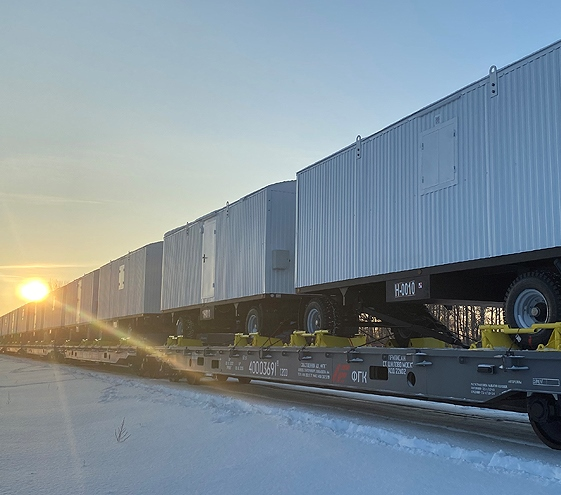 First piggyback trailers shipment in Russia