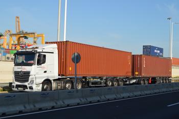 Suardíaz TET trucks 72 ton gvw container loads