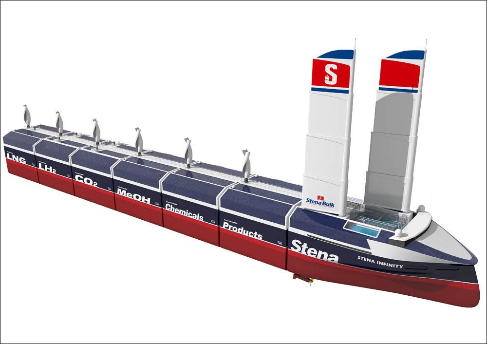 Electric, modular hybrid bulk carrier design