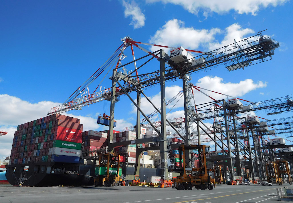 Liebherr STS cranes at Maher Terminals in New Jersey