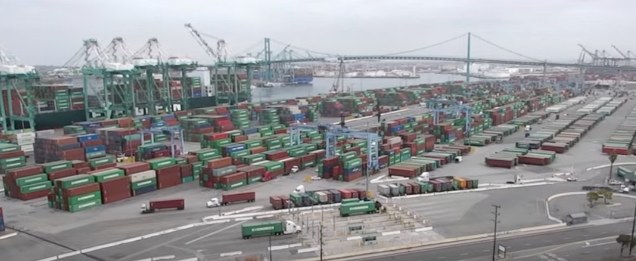 The Everport Terminal in Los Angeles this week.