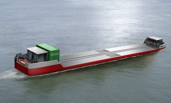 Flagships - green H2 barge for Seine waterway