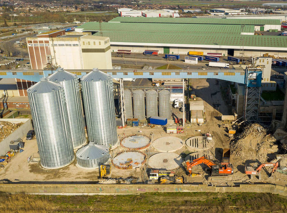 Tilbury Grain Terminal silo rebuild begins