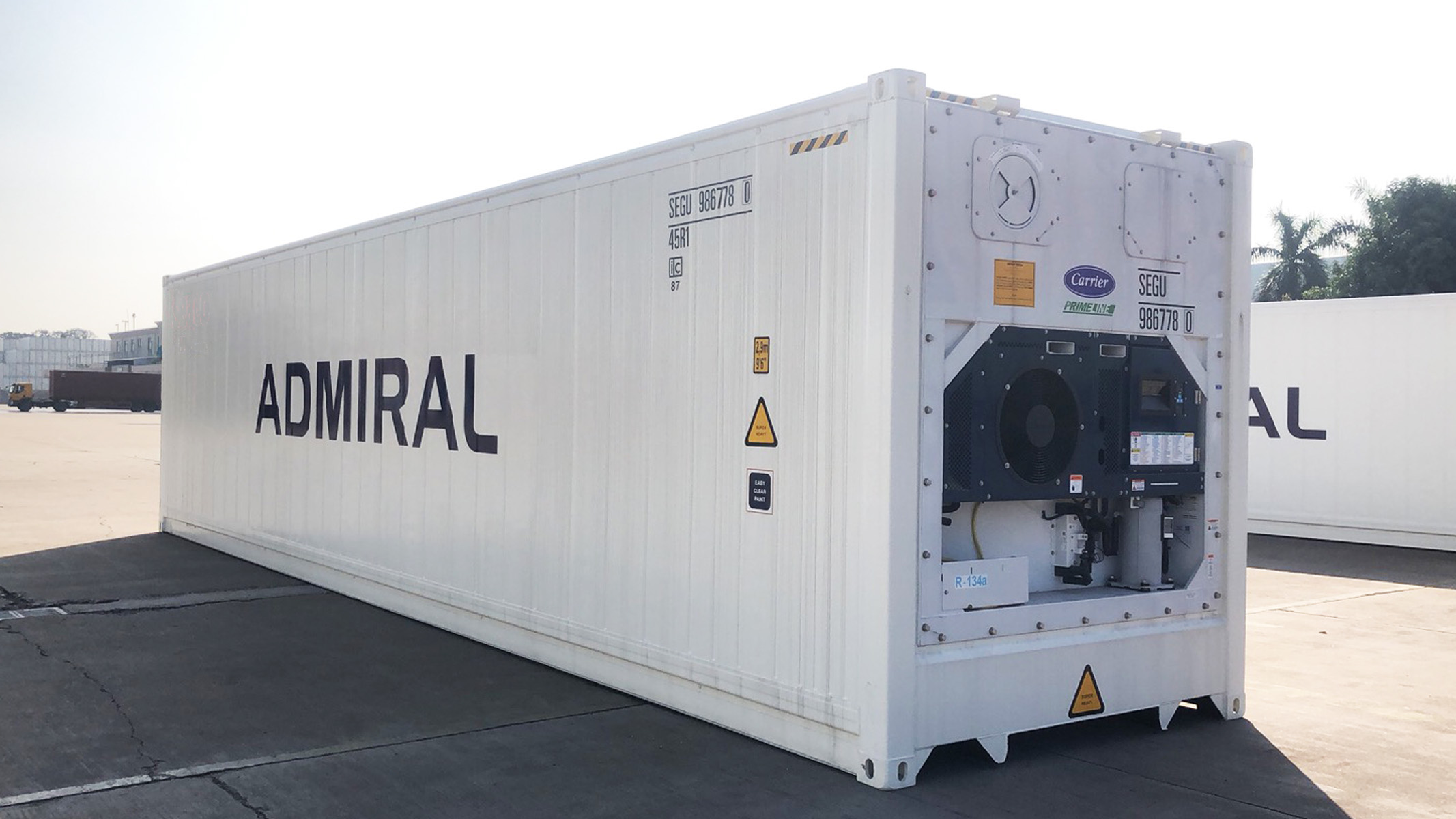 Admiral Container Lines adds reefers